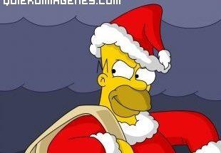 Homer Simpsons vestido de Papá Noël imágenes