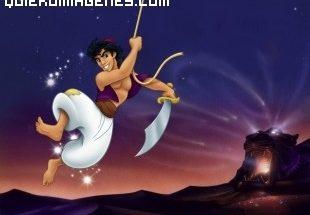 Aladdin esgrimiendo su espada imágenes