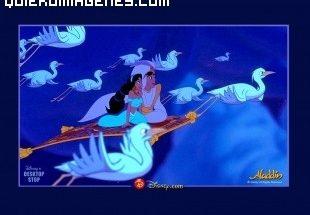 Aladín y Jazmin surcando los cielos imágenes