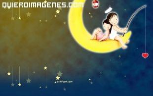 Imagen de angelitos pescando en la luna imágenes