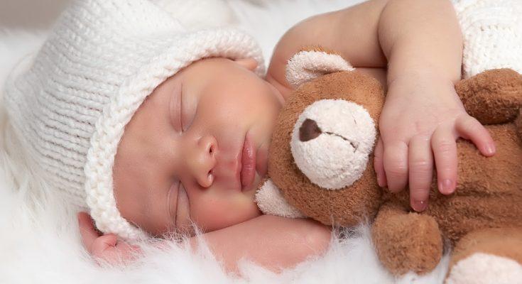 Durmiendo con el peluche imágenes