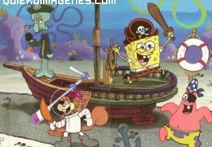 Bob Esponja jugando a pirata imágenes