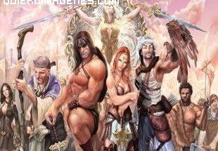 Conan rodeado de amigos imágenes