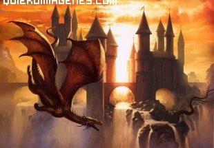 Dragón y una fortaleza imágenes