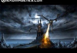 Castillo atacado por Dragón imágenes