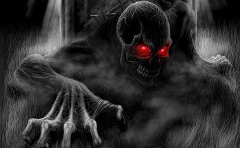 Esqueleto de ojos rojos imágenes