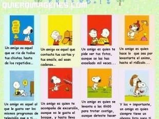 Frases de amistad de Snoopy imágenes