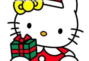 Hello Kity con regalo de Navidad imágenes