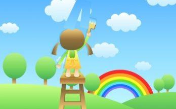 Coloreando Paisaje Infantil imágenes