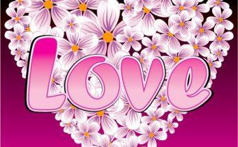 Corazón con flores imágenes