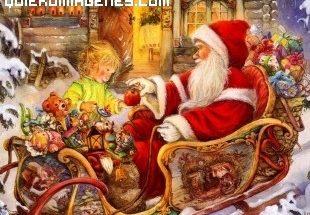 Papá Noel y la niña imágenes
