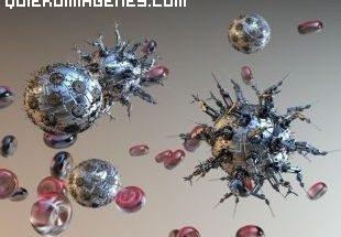Imagen de anticuerpos microscópicos imágenes