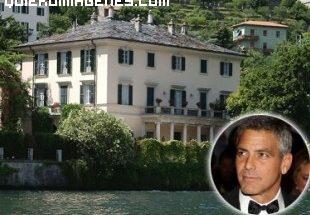 Imagen de la casa de George Clooney en Como imágenes