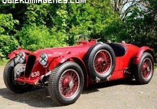 Aston Martin descapotable del año 1939 imágenes