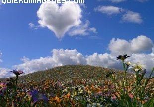 Imagen de un corazon con forma de nube imágenes
