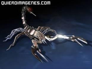 Imagen de un escorpión metalico imágenes