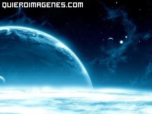 El espacio azulado imágenes