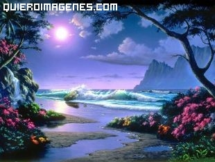 Playa idílica imágenes