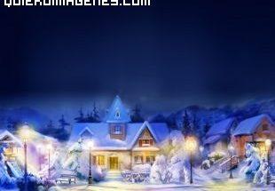 Pueblecito en Navidad imágenes