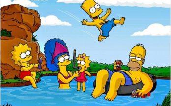 Imagen de los Simpsons en vacaciones imágenes