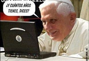 El papa chateando imágenes