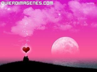 Postal de amor con horizonte rosa imágenes