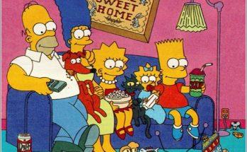 Los Simpsons delante de la tele imágenes