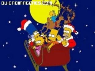 Los Simpsons en Trineo Papa Noel imágenes