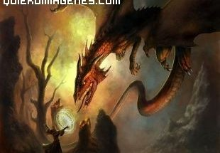 Mago contra dragón imágenes