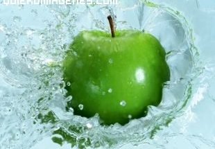 Imagen de una manzana verde imágenes