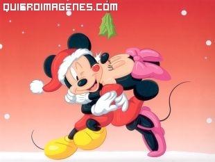 Mickey y Minnie en Navidad imágenes