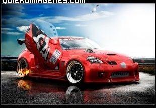 Nissan deportivo rojo imágenes