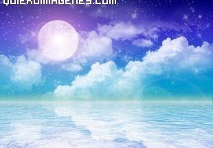 Imagen de un paisaje maritimo nocturno imágenes