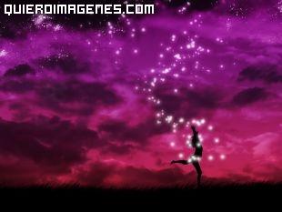 Imagen de una Bailarina entre tonos morados imágenes