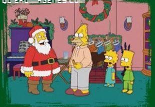 Santa Claus visita la casa de Los Simpsons imágenes