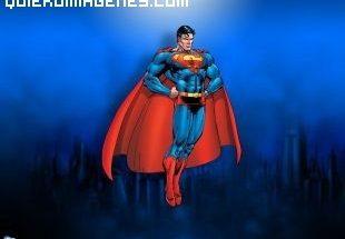 Superman sube impulsado por los aires imágenes