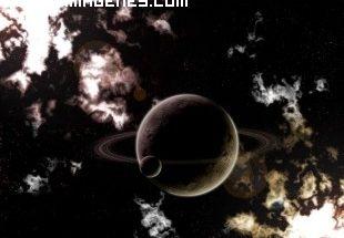Saturno y su satélite imágenes