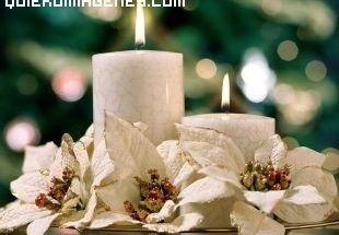 Velas navideñas imágenes
