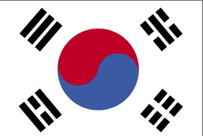 Bandera de Corea del Sur imágenes