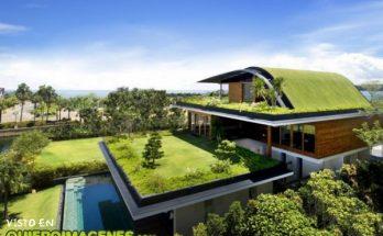 Bonita casa con jardín imágenes