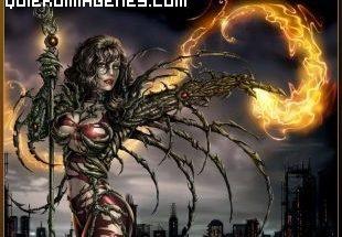 Atractiva Bruja de Fuego imágenes