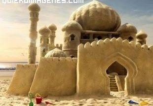 Un castillo de arena imágenes