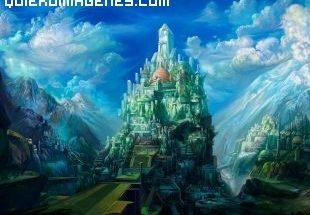 Castillo entre montañas imágenes
