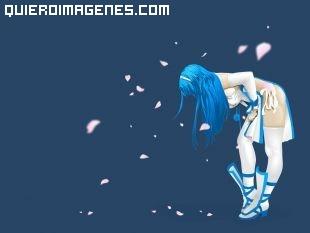 La chica del cabello azul imágenes