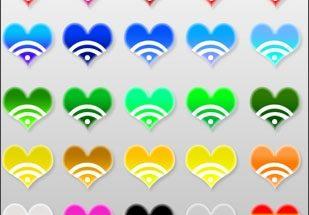 Corazones de colores imágenes