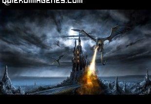 Dragones en una fortaleza imágenes