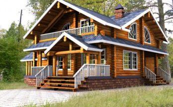 Elegante casa de madera imágenes