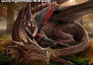 Elfa con su dragon imágenes
