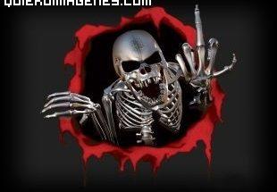 Un esqueleto bastante gamberro imágenes