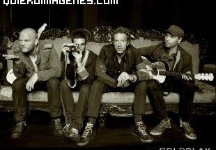 Foto del grupo Coldplay descansando imágenes
